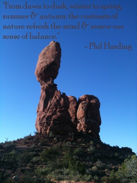 Balance Rock with Phil Harding quote