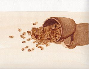 Spilled Coffee Beans, coffee, $75.00