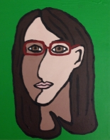 Cubism Self Portrait, acrylic