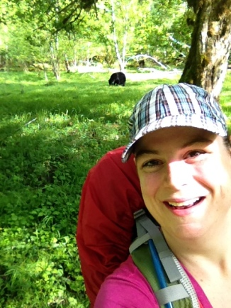Selfie with a black bear, Olympic National Park, WA