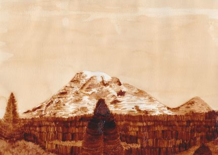 Mount Rainier, coffee, **SOLD*