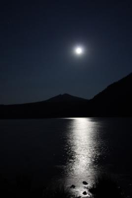Walupt Lake, WA Moon, digital photography, prices starting at $25.00