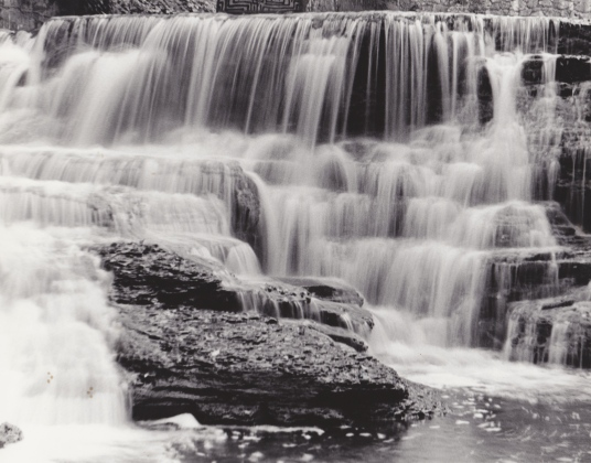 Upstate NY waterfall, traditional B&W photography, $45.00