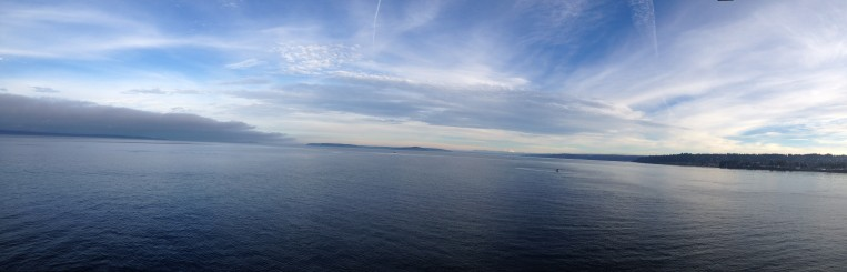 View from Puget Sound ferry looking north