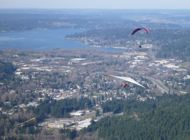 A view from Poo Poo Point looking towards Lake Sammamish