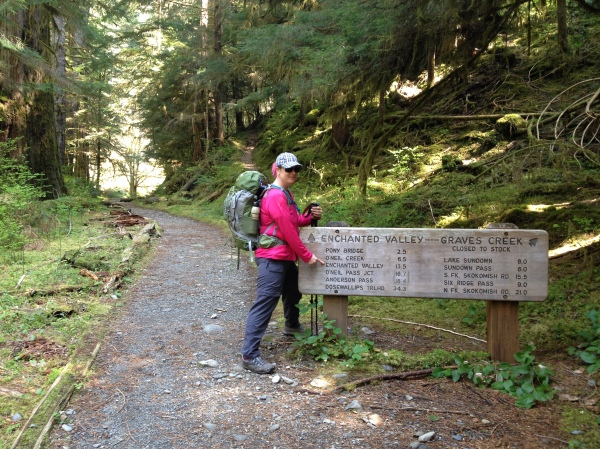Enchanted Valley trailhead at Graves Creek, Olympic National Park