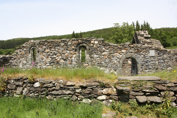 St. Savior's Church, Glendalough Valley, Wicklow Mountains National Park, Ireland