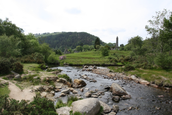 Monastic City, Glendalough Valley, Wicklow Mountains National Park, Ireland