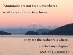Mount Baker with Anatoli Boukreev quote