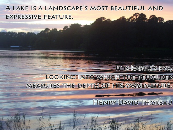 Lake Toledo Bend with Thoreau quote